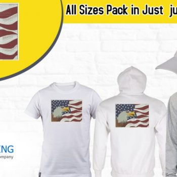Buy America Flag with Eagle Independence Day logo Digitized for Embroidery For Cap | Jacket Back | Full Chest & Left Chest Pack in All sizes