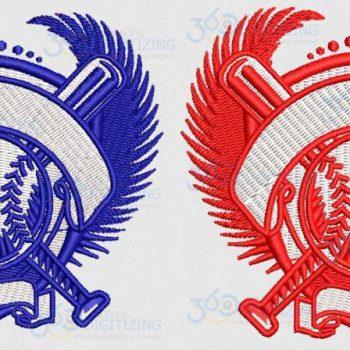 Buy Baseball Monogram logo Design Digitized for Machine Embroidery Online