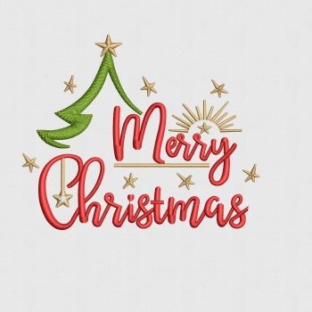 Buy Beautiful Merry Christmas Design Digitized for Machine Embroidery