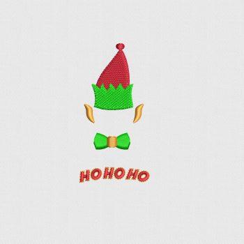 ELF HO HO HO Christimas Logo Digitized for Machine Embroidery Buy Online