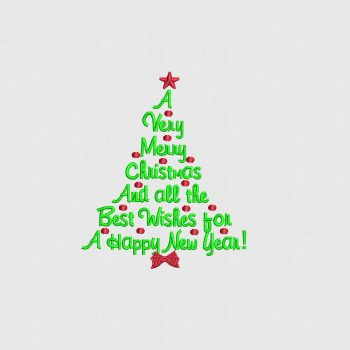 Buy Christmas Tree Design Digitized for Machine Embroidery 2019