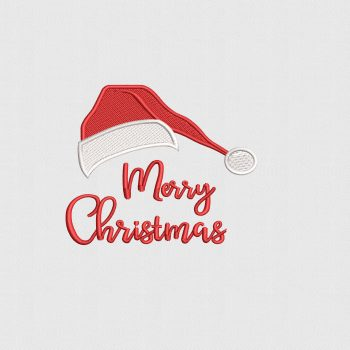 Buy Now Merry Christmas Logo Design Digitized for Embroidery