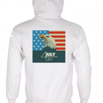 USA 4th July Independence Day Eagle Face with Flag Logo Jacket Back Digitized Design for Sale 2019
