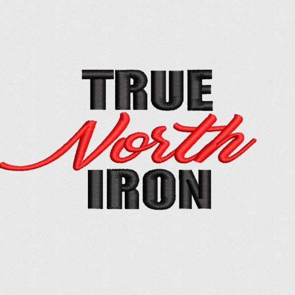 True North Iron Logo Digitized for Embroidery
