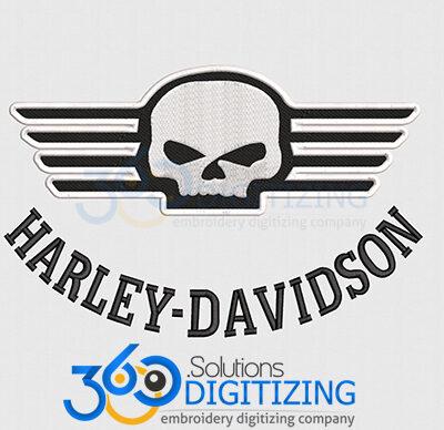 Harley-Davidson-Jacket-Back-Logo-Digitized-for-Machine-Embroidery-By-360-Digitizing-Solutions