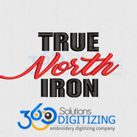 True-North-Iron-Left-Chest-Logo-Digitized-for-Machine-Embroidery-By-360-Digitizing-Solutions