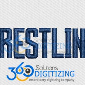 Wrestling Jacket Back Logo Digitized for Machine Embroidery By 360 Digitizing Solutions